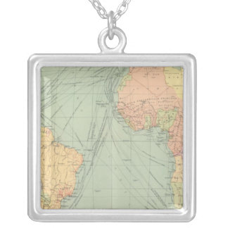 45 lines of communication, Atlantic Ocean Silver Plated Necklace
