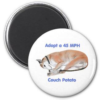 45 mph Couch Potato 6 Cm Round Magnet