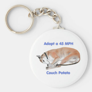45 mph Couch Potato Basic Round Button Key Ring
