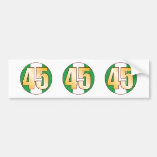 45 NIGERIA Gold Bumper Sticker