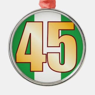 45 NIGERIA Gold Silver-Colored Round Decoration