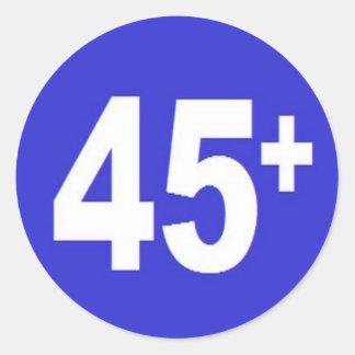 45+ ROUND STICKERS