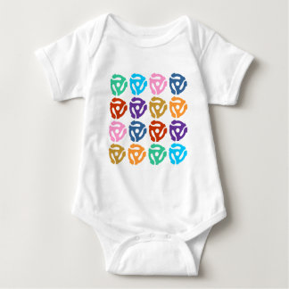 45 RPM Record Adapter Pop Art Baby Bodysuit
