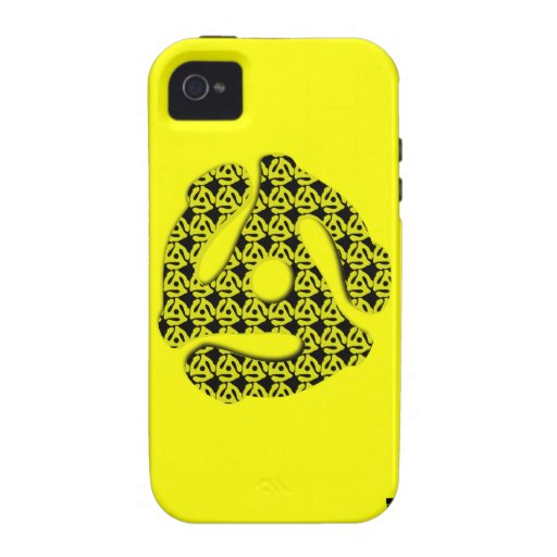45 RPM Record Insert YellowiPhone 4 Case-Mate Case Case For The iPhone 4
