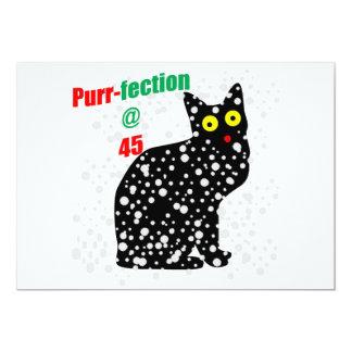 45 Snow Cat Purr-fection 13 Cm X 18 Cm Invitation Card
