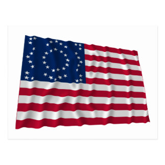 "45-star flag, ""Elliott Starburst"" pattern Post Cards"