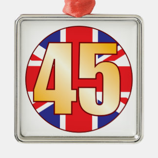 45 UK Gold Christmas Ornament