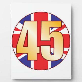 45 UK Gold Plaque