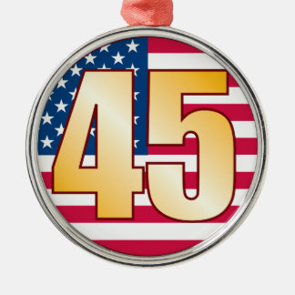 45 USA Gold Christmas Ornament