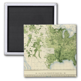 45 Value farm products 1890 Square Magnet