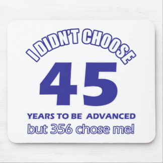 45 years advancement mouse pad