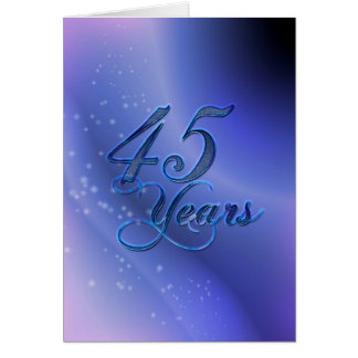 45 Years (anniversary) Card