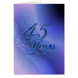 45 Years (anniversary) Greeting Card