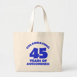 45 YEARS OLD BIRTHDAY DESIGNS LARGE TOTE BAG