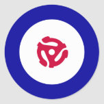 45rpm Mod Target T-Shirt Stickers