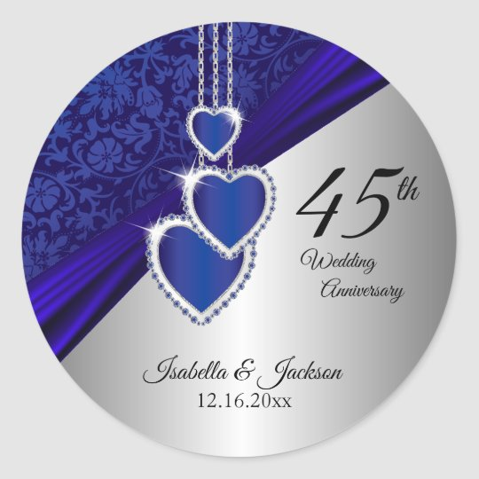 45th / 65th Sapphire Wedding Anniversary Design Classic