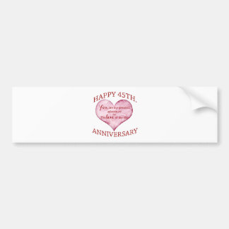 45th. Anniversary Bumper Sticker