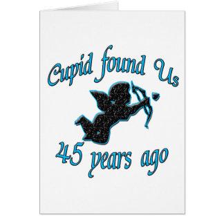 45th. Anniversary Card