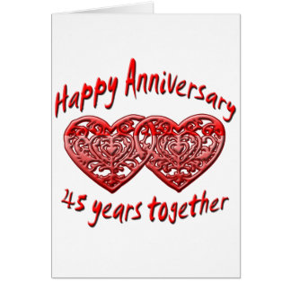 45th Anniversary Cards