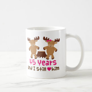 45th Anniversary Gift For Her Coffee Mug