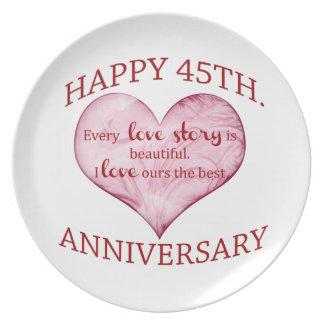 45th. Anniversary Plate