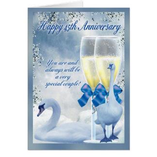 45th Anniversary - Sapphire Anniversary Greeting Card