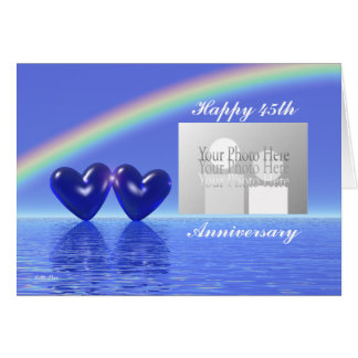 45th Anniversary Sapphire Hearts (for photo) Greeting Card