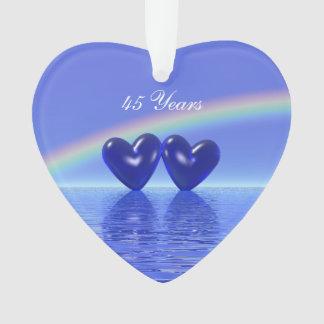 45th Anniversary Sapphire Hearts Ornament
