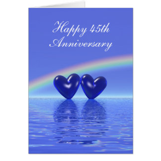 45th Anniversary Sapphire Hearts Tall Cards