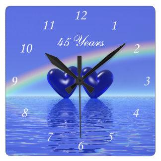 45th Anniversary Sapphire Hearts Wallclock