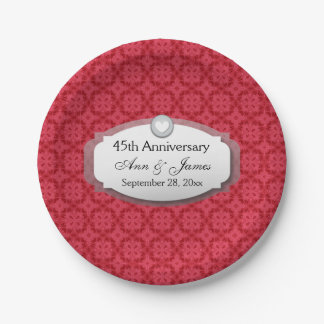 45th Anniversary Sapphire Red  Z28 7 Inch Paper Plate