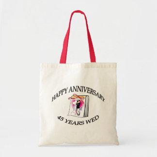 45th. ANNIVERSARY Canvas Bag