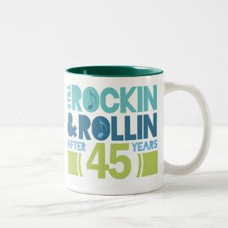 45th Anniversary Wedding Gift Two-Tone Mug