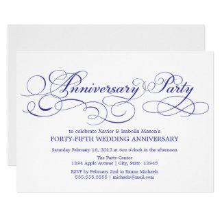 45th Anniversary | White/Blue Card