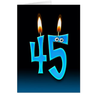 45th Birthday Candles Card