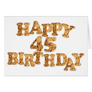 45th Birthday card for a cookie lover