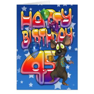 45th Birthday Card Happy Birthday