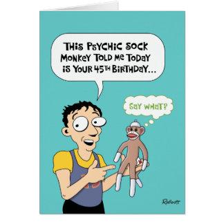 45th Birthday Funny Greeting Card