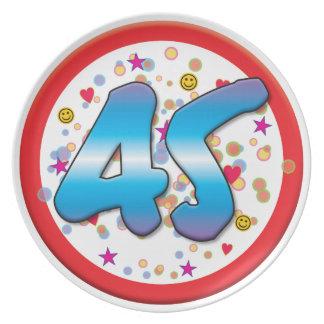 45th Birthday Plates