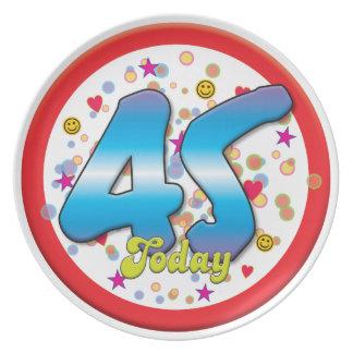 45th Birthday Today Dinner Plates