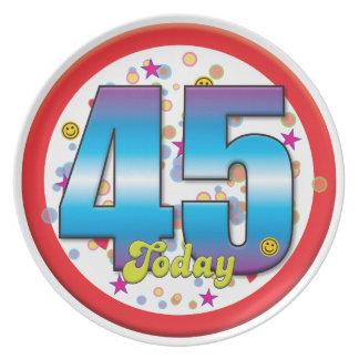 45th Birthday Today v2 Party Plates