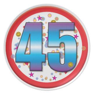 45th Birthday v2 Plates