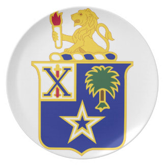 45th Inf Rgt DUI Dinner Plate