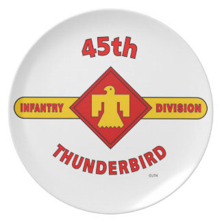 45TH INFANTRY DIVISION THUNDEBIRD DINNER PLATES
