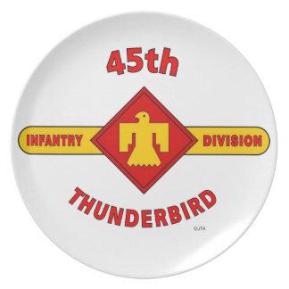 "45TH INFANTRY DIVISION ""THUNDEBIRD"" DINNER PLATES"
