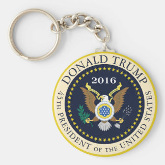 45th President of the United States Basic Round Button Key Ring