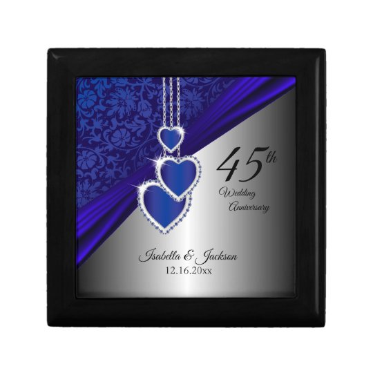 45th Sapphire Wedding Anniversary Design 2 Gift Box