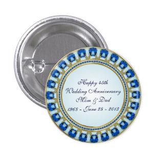45th Wedding Anniversary Button
