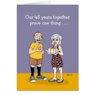 45th Wedding Anniversary Card: Love Card