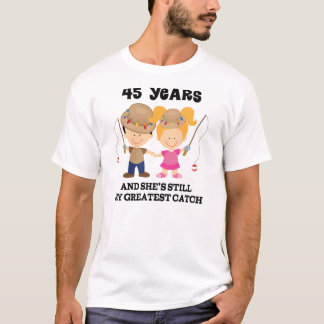 45th Wedding Anniversary Gift For Him T-Shirt